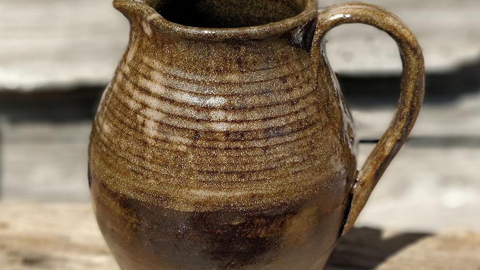 Greenish brown jug