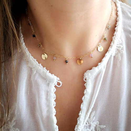 Collier Pampille rosée