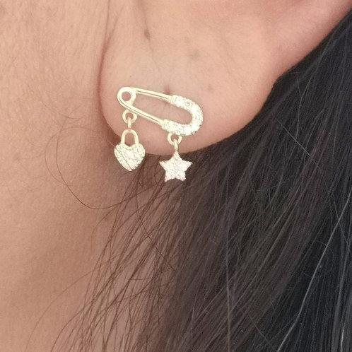 Boucles d'oreille EPINGLE doré