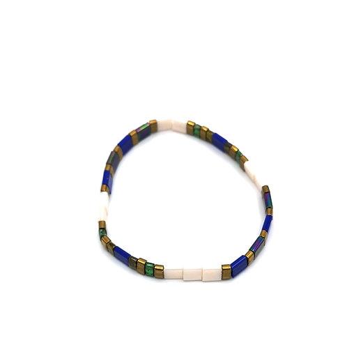 Bracelet SUMMER bleu et blanc