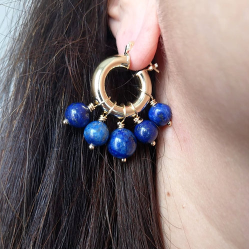 Créoles Perla Lapis Lazuli
