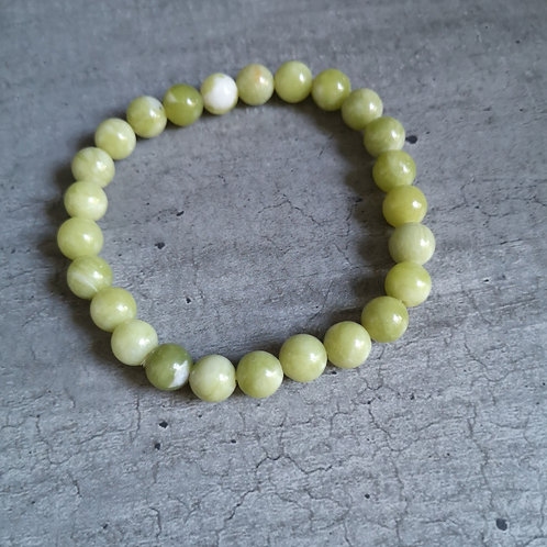 Bracelet pierre Jade vert anis