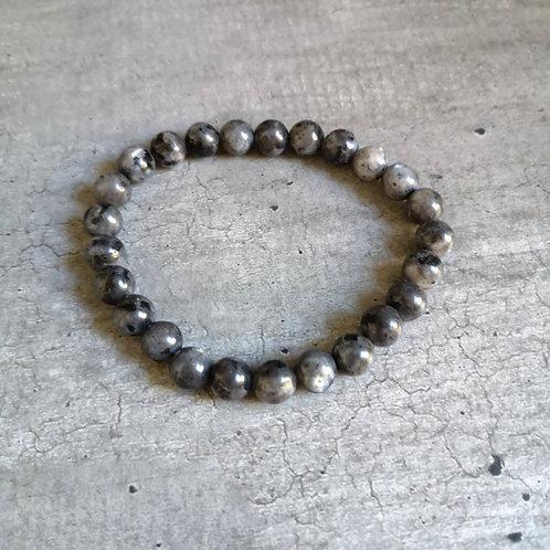 Bracelet pierres grises et noires