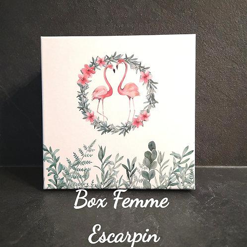Box Femme Argenté, Collier médaille et escarpin + Jonc ou Bracelet