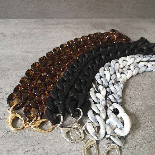 Bandoulière chaîne noire mate petit modèle
