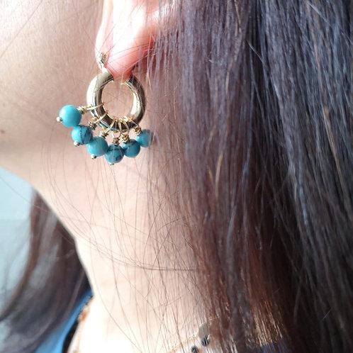 Créoles PERLA Turquoise