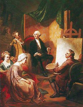 President George Washington sitting for his fine art portrait.