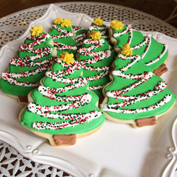 Large royal icing cookies