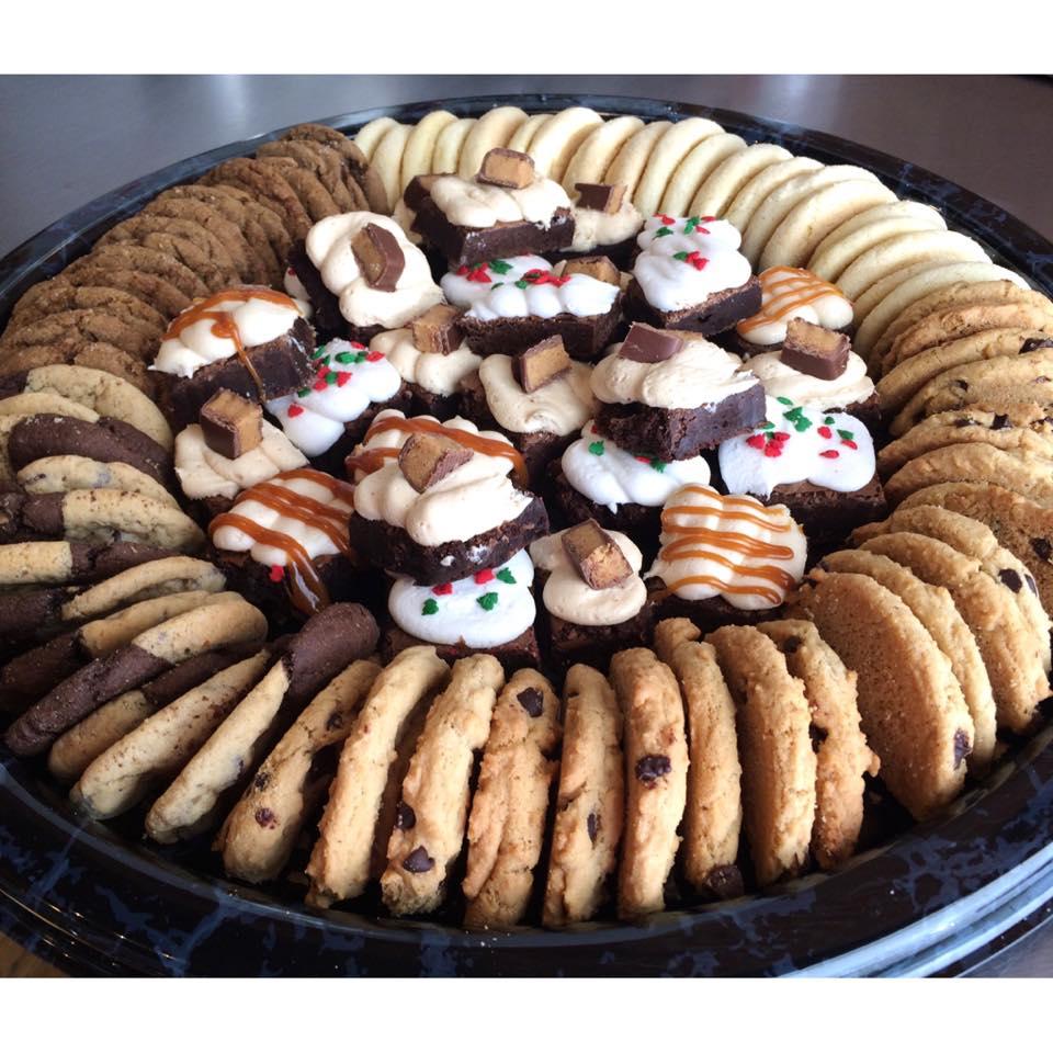 Holiday cookie & brownie platter