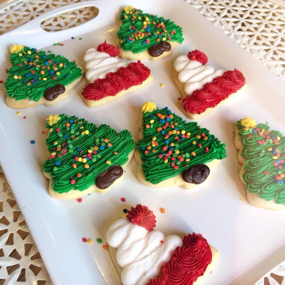 Buttercream cut out cookies