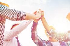 business, building, partnership, gesture