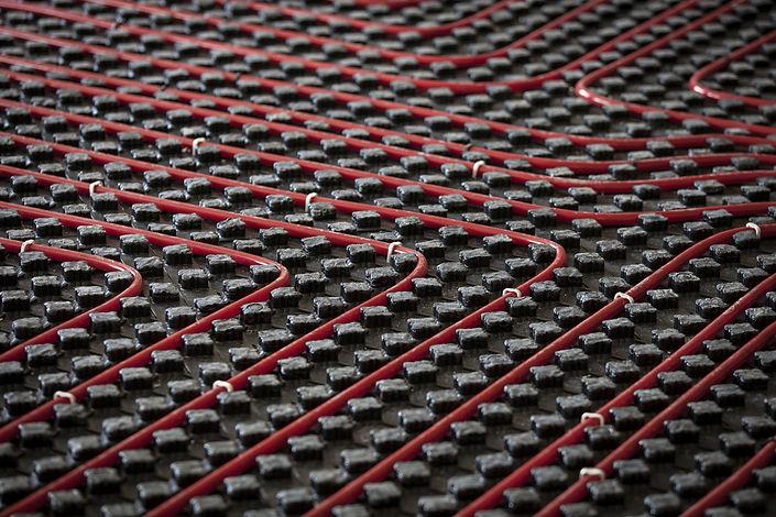 Warm radiant floor construction installa