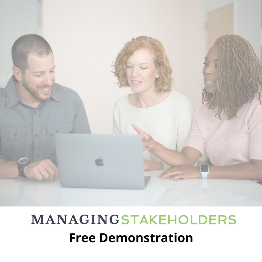 Managing Stakeholders AI Simulation Free Demo - May 11 - 12MT/1CT/2ET