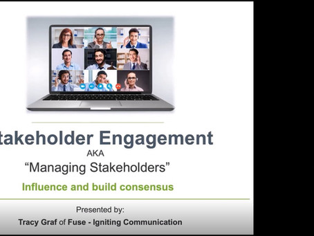 """""""Managing Stakeholders"""" is now """"Stakeholder Engagement"""""""