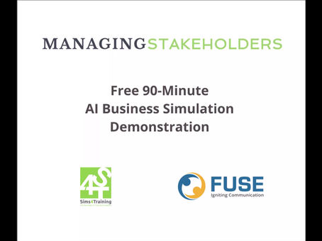 FREE 90-Minute AI Business Simulation Workshop Demonstration Focused on Project Collaboration Skills