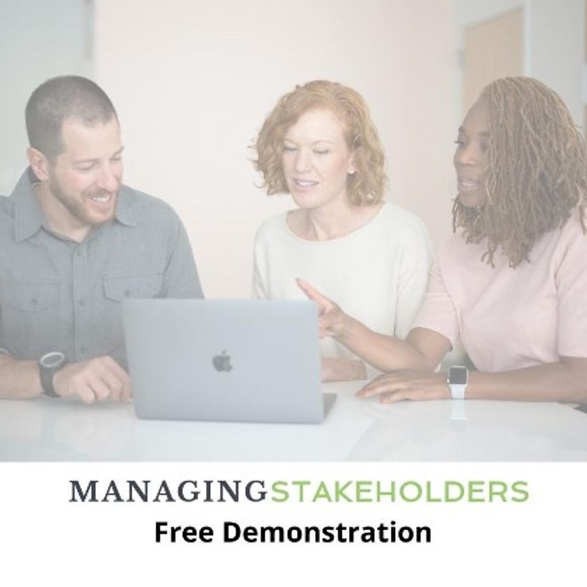 Managing Stakeholders AI Simulation Free Demo - April 6 - 9MT/10CT/11ET