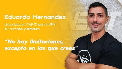 Entrenador online, nutricionista online, WEFIT, Eduardo Hernandez.