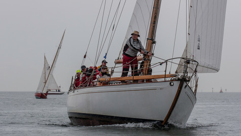 Coming up to the windward mark