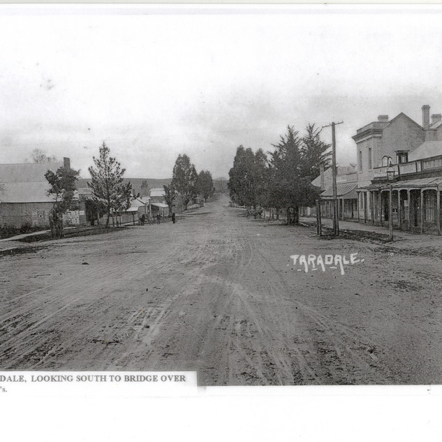 Looking South to Bridge over Back Creek, 1920's