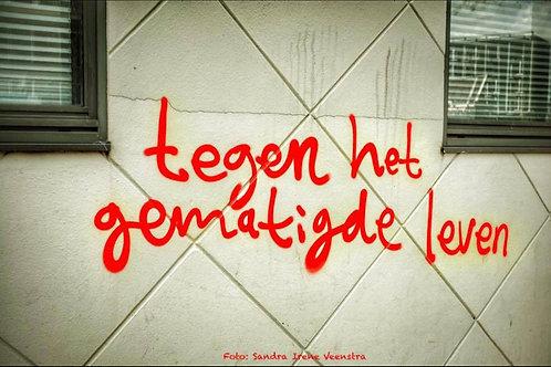 Against the Moderate Life Graffiti, Amsterdam