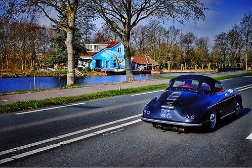 Little Blue House and Sportscar