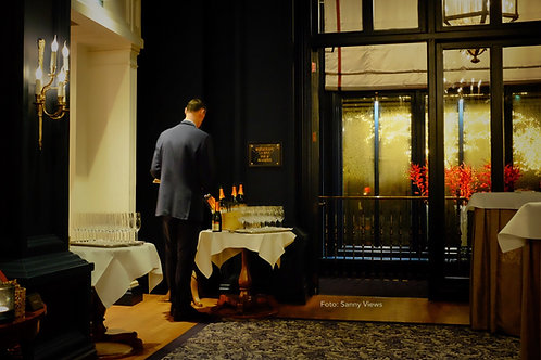 Champagne at La Rive Restaurant, Amsterdam