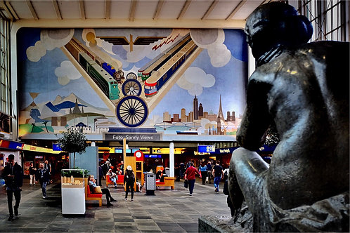 Mural in Amstel Station Amsterdam