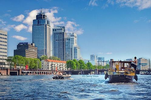 Spring at Amstel River Amsterdam