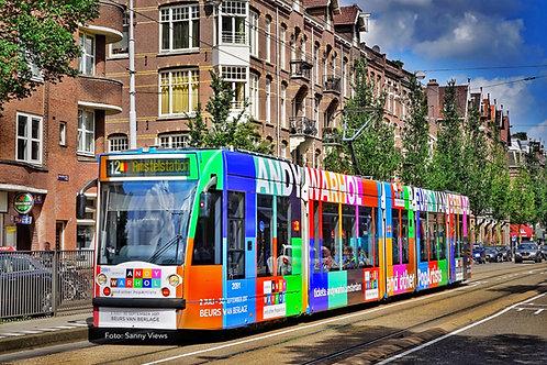 Andy Warhol Tram in Amsterdam