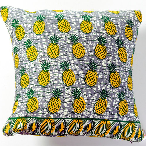 African pineapple print pillow