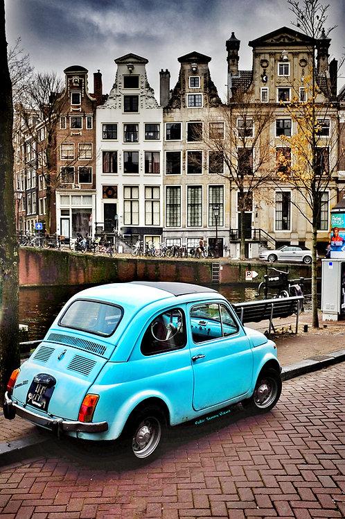 Little Blue Car in Amsterdam