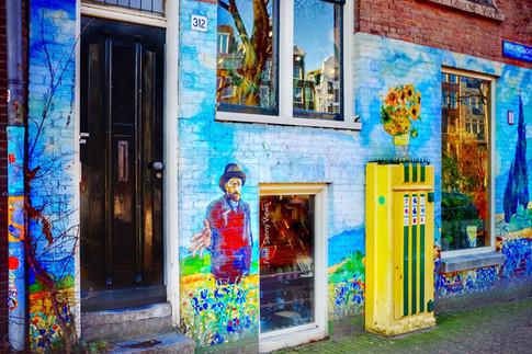 Mural Van Gogh in Amsterdam