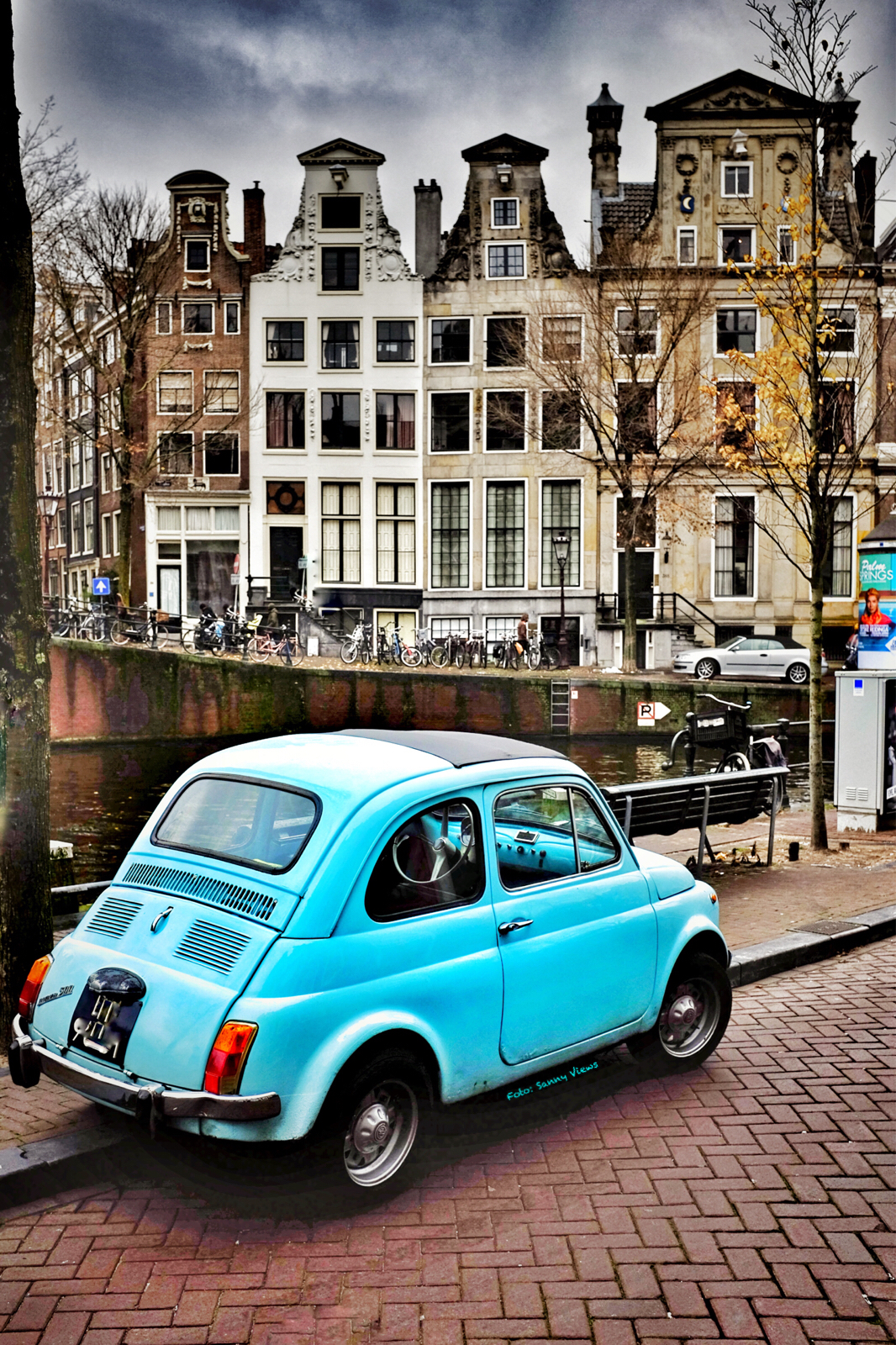 Little Blue Car in Amsterdam