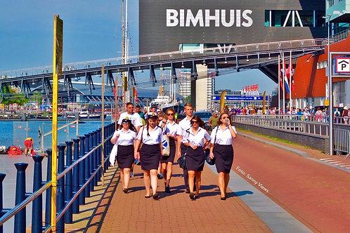 Sailors near Bimhuis Amsterdam