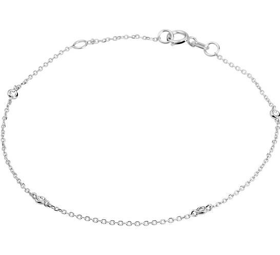 Armband diamant 0.04ct H SI 1,0 mm 16,5 - 18 cm