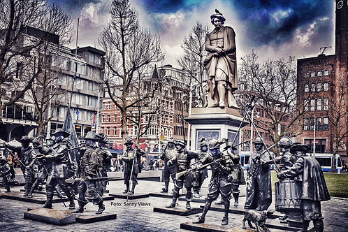 Rembrandt and his NightWatch in Amsterdam