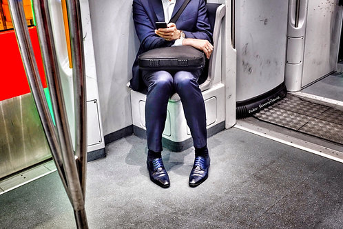 Businessman in the Subway Amsterdam
