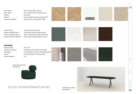 Kleur- en materiaalplan