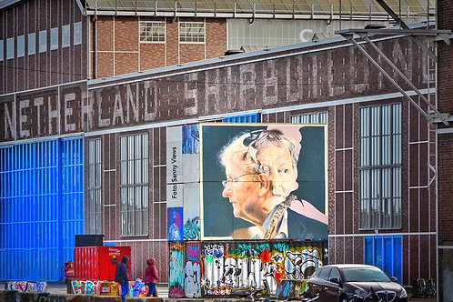 Mural of Eberhard, The Late Mayor of Amsterdam