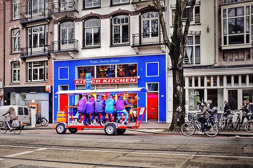 Beer Bike in Amsterdam City