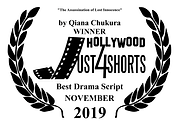 Qiana C - Winner Hollywod Just4Shorts Best Drama Script