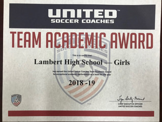 2018-19 Lambert Girls Soccer Team Academic Award