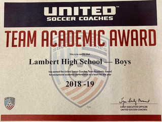 2018-19 Lambert Boys Soccer Team Academic Award