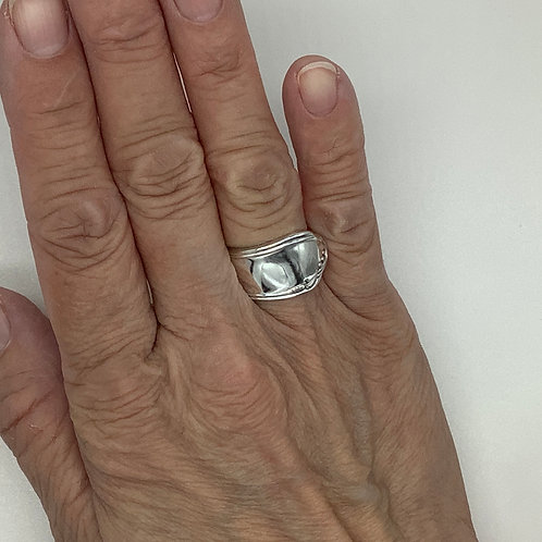 Spoon Ring with Minimal Floral Touches