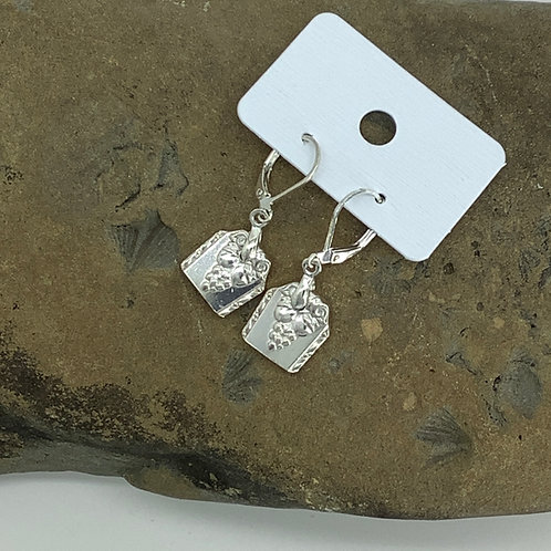 Bordeaux Silverware Earrings