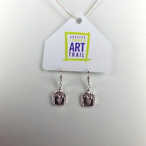 Bordeaux Silverware Earrings