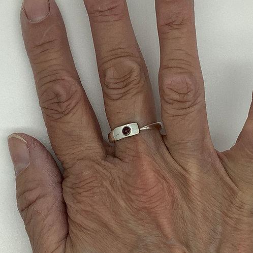Fork Tine Spoon Ring-Garnet Rhinestone