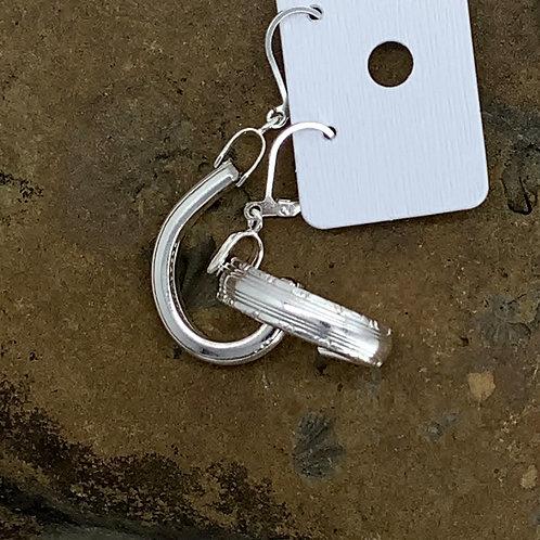 Bordeaux Hoop Silverware Earrings