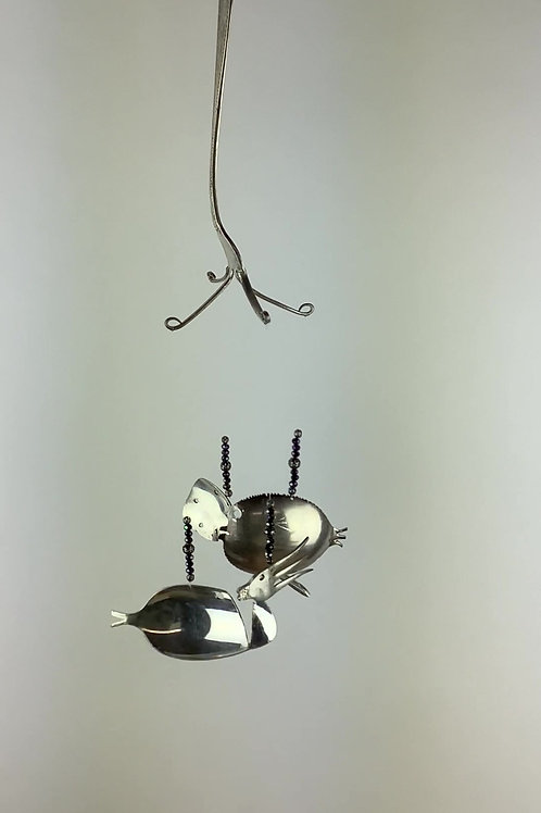 Fish Chime/Mobile with puffer fish