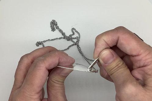 Hammered Spoon Silverware Toggle Pendant